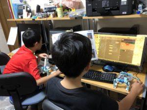 バレッドキッズ、ロボットプログラミング中級授業風景